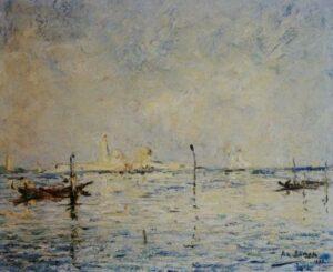 """Armand Jamar (1870-1946), """"Au fil de l'eau..."""""""